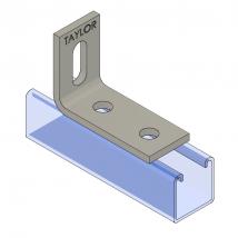 Strut Fitting - Angular, AF214 Three-Hole Adjustable Corner Angle