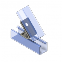 Strut Fitting - Angular, AF225 Two-Hole Closed Angle