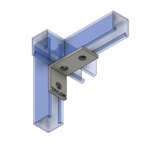 Strut Fitting - Angular, AF301 Three-Hole Corner Angle