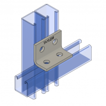 Strut Fitting - Angular, AF402 Four-Hole Corner Angle