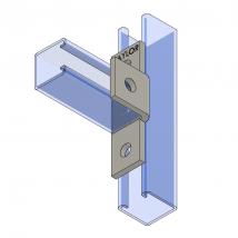 Strut Fitting - Angular, AF415 Four-Hole Offset Bent Tee