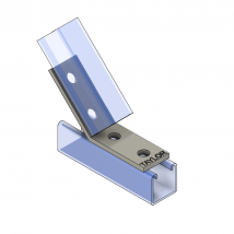 Strut Fitting - Angular, AF425 Four-Hole Open Angle