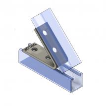 Strut Fitting - Angular, AF426 Four-Hole Closed Angle