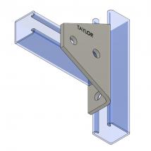 Strut Fitting - Angular, AF441 Four-Hole Shelf Gusset Angle