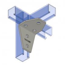 Strut Fitting - Angular, AF445 Four-Hole Shelf Gusset Angle