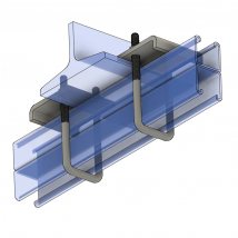 Strut Beam Clamps, BC891 Beam Clamp - Double Strut