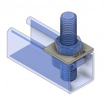 Strut Fitting - Flat, FP100 Square Washer