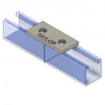 Strut Fitting - Flat, FP200 Two-Hole Splice Plate
