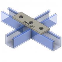 Strut Fitting - Flat, FP300 Three-Hole Splice Plate