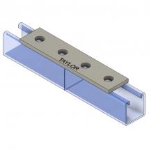 Strut Fitting - Flat, FP400 Four-Hole Splice Plate