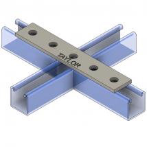 Strut Fitting - Flat, FP401 Five-Hole Splice Plate