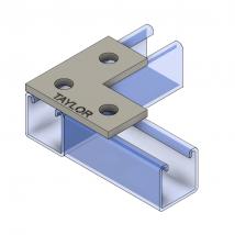 Strut Fitting - Flat, FP500  Three-Hole Splice Plate