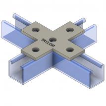 Strut Fitting - Flat, FP700 Five-Hole Cross Plate