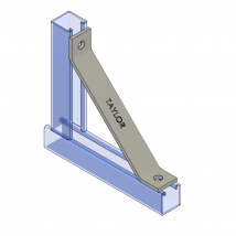 Strut Brackets & Bracing, MF100 Two-Hole Knee Brace
