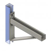 Strut Brackets & Bracing, SB140 Single Channel Bracket (solid strut)