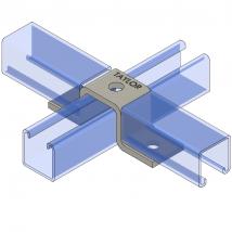 "Strut Fitting - U Shape, UF315 Three-Hole Offset ""U"" Support"